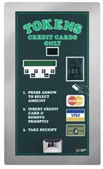 AMERICAN CHANGER REAR LOAD CREDIT CARD TOKEN DISPENSER