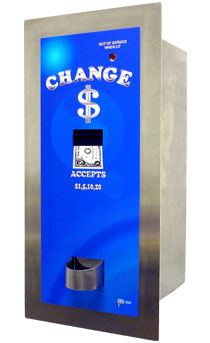 AMERICAN CHANGER REAR LOAD BILL CHANGER/ STAINLESS STEEL/ HIGH SECURITY