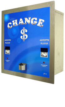 AMERICAN CHANGER REAR LOAD/ STAINLESS STEEL HIGH SECURITY/ DUAL CHANGER/ DUAL HOPPER/ DUAL VALIDATOR