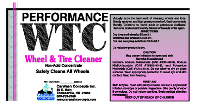 Performance Wheel & Tire Cleaner
